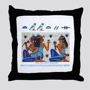 Egyptian ladies  final Throw Pillow