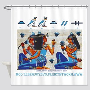 Egyptian ladies  final Shower Curtain
