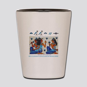 Egyptian ladies  final Shot Glass