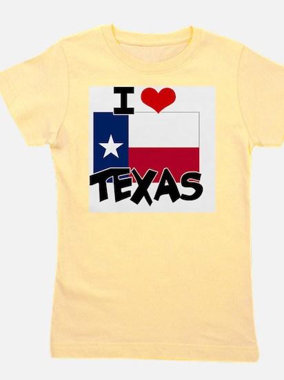I HEART TEXAS FLAG Girl's Tee
