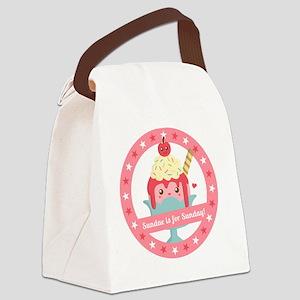 Sundae is for Sunday! Cute Cartoo Canvas Lunch Bag