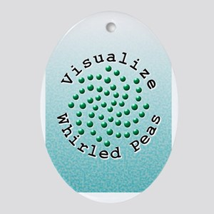 Visualize Whirled Peas 2 Oval Ornament