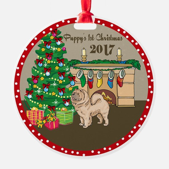 2017 Chow Chows 1St Christmas Ornament
