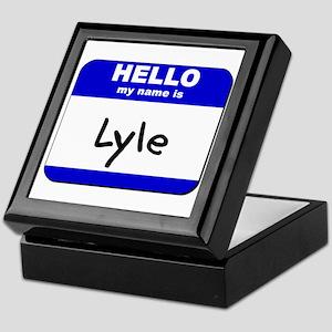 hello my name is lyle Keepsake Box