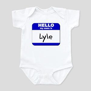 hello my name is lyle  Infant Bodysuit