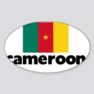 I HEART CAMEROON FLAG Sticker (Oval)