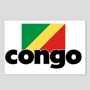 I HEART CONGO FLAG Postcards (Package of 8)