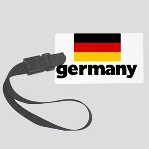 I HEART GERMANY FLAG Large Luggage Tag