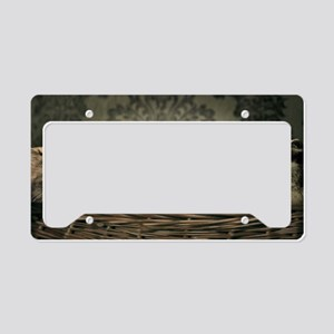 Cute Odd One Out License Plate Holder