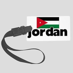 I HEART JORDAN FLAG Large Luggage Tag