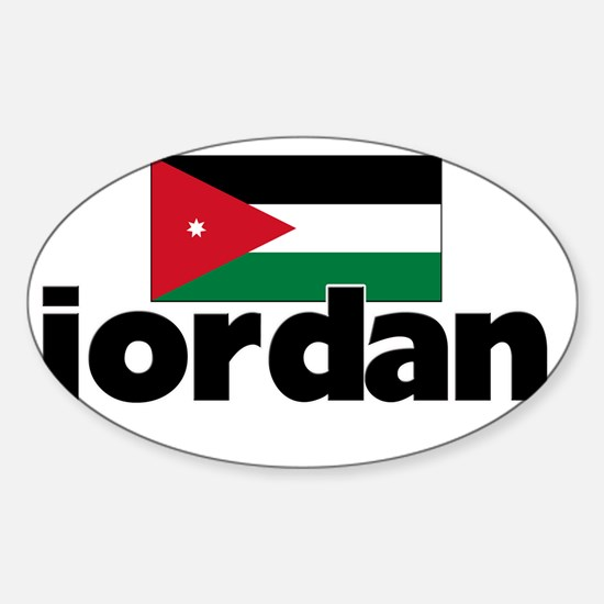 I HEART JORDAN FLAG Sticker (Oval)