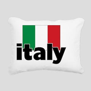 I HEART ITALY FLAG Rectangular Canvas Pillow