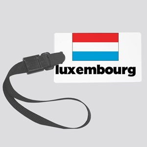 I HEART LUXEMBOURG FLAG Large Luggage Tag