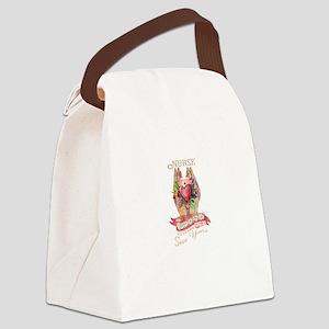 Nurse Secures Patient's Life Canvas Lunch Bag