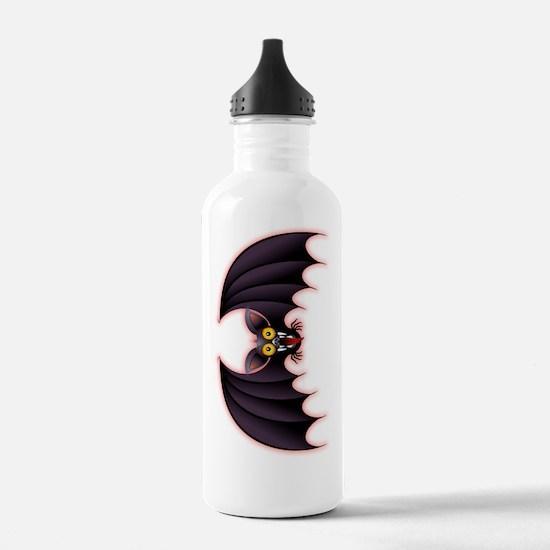 Bat Cartoon Water Bottle