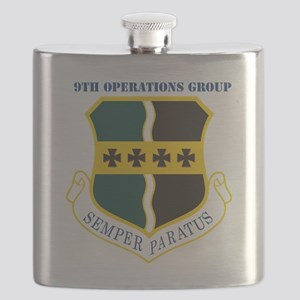 9th Operations Group with Text Flask