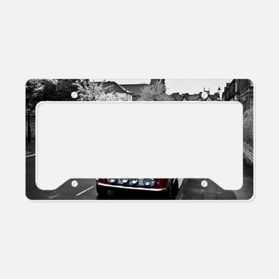 Red Mini License Plate Holder