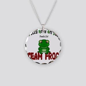 team frog Necklace Circle Charm
