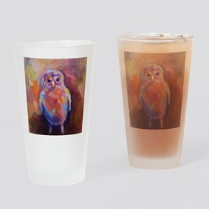 BABY BARRED OWL Acrylic1 Drinking Glass