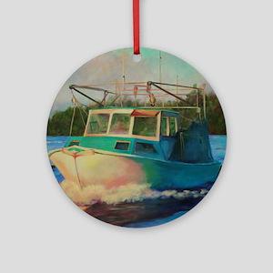 Shrimp Boat Round Ornament