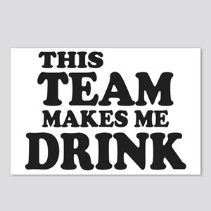 This Team Makes Me Drink Postcards (Package of 8)