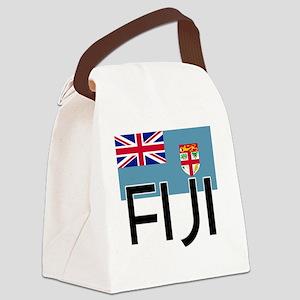 I HEART FIJI FLAG Canvas Lunch Bag