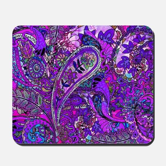Extra Wild Paisley Purple Mousepad