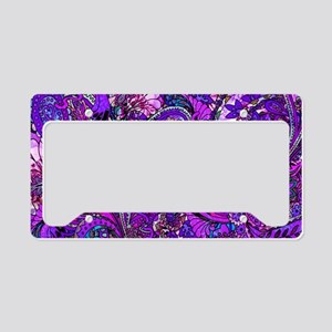 Extra Wild Paisley Purple License Plate Holder