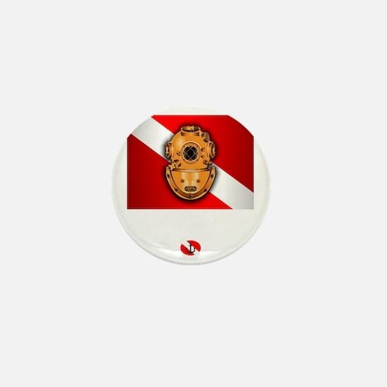 Hard Hat Diver Mini Button