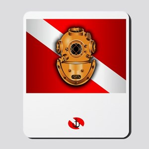 Hard Hat Diver Mousepad