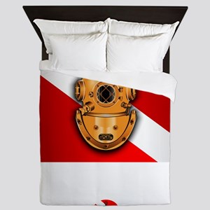 Hard Hat Diver Queen Duvet