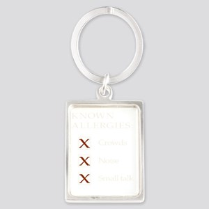 Allergies - crowds, noise, small Portrait Keychain
