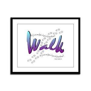 Walk - Just one foot Framed Panel Print