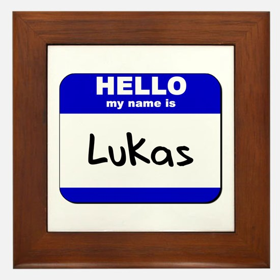 hello my name is lukas  Framed Tile