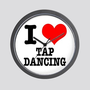 I Heart (Love) Tap Dancing Wall Clock