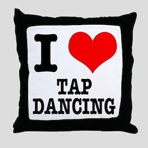 I Heart (Love) Tap Dancing Throw Pillow