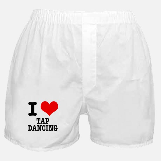 I Heart (Love) Tap Dancing Boxer Shorts
