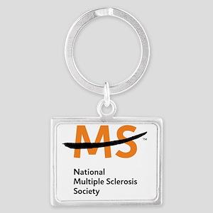 National MS Society Landscape Keychain