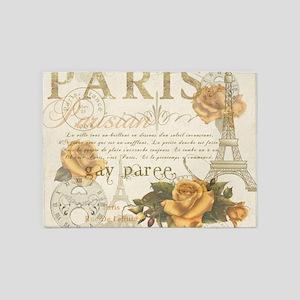 Vintage Paris 5'x7'Area Rug