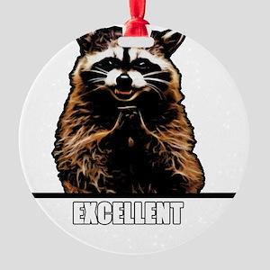 Evil Raccoon Round Ornament