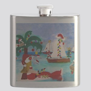 Christmas Boat Parade Flask