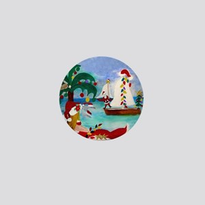 Christmas Boat Parade Mini Button