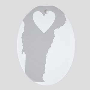 Heart Vermont state silhouette Oval Ornament