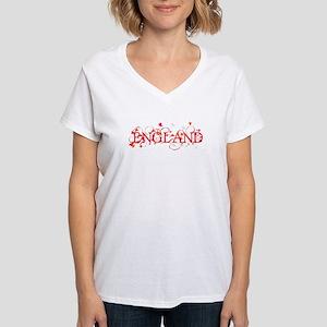 ENGLAND Women's V-Neck T-Shirt