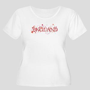 ENGLAND Women's Plus Size Scoop Neck T-Shirt
