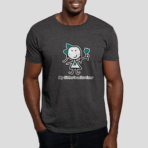 Teal Ribbon - Sister Dark T-Shirt