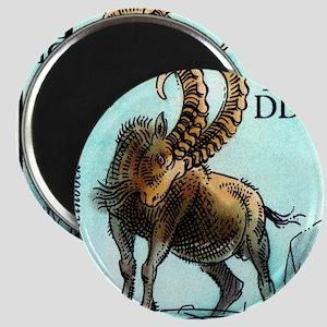 1975 Germany Zoo Siberian Ibex Postage Stam Magnet
