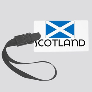 I HEART SCOTLAND FLAG Large Luggage Tag