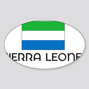 I HEART SIERRA LEONE FLAG Sticker (Oval)