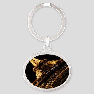 eiffelanglemouse1 Oval Keychain